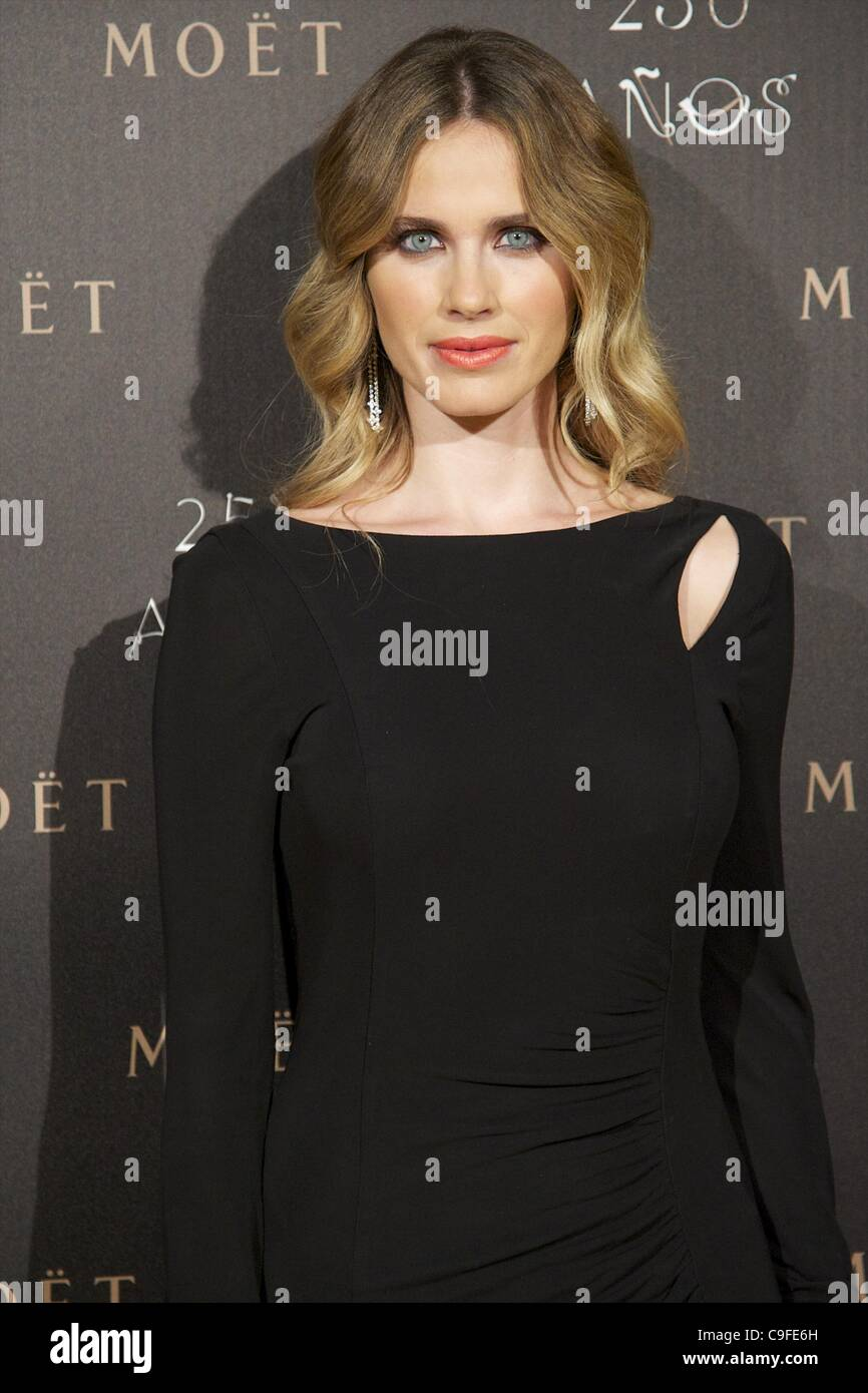 Dec. 14, 2011 - Madrid, Madrid, Spain - Vanessa Romero attends the photocall for the 250th Anniversary of Moet & - Stock Image