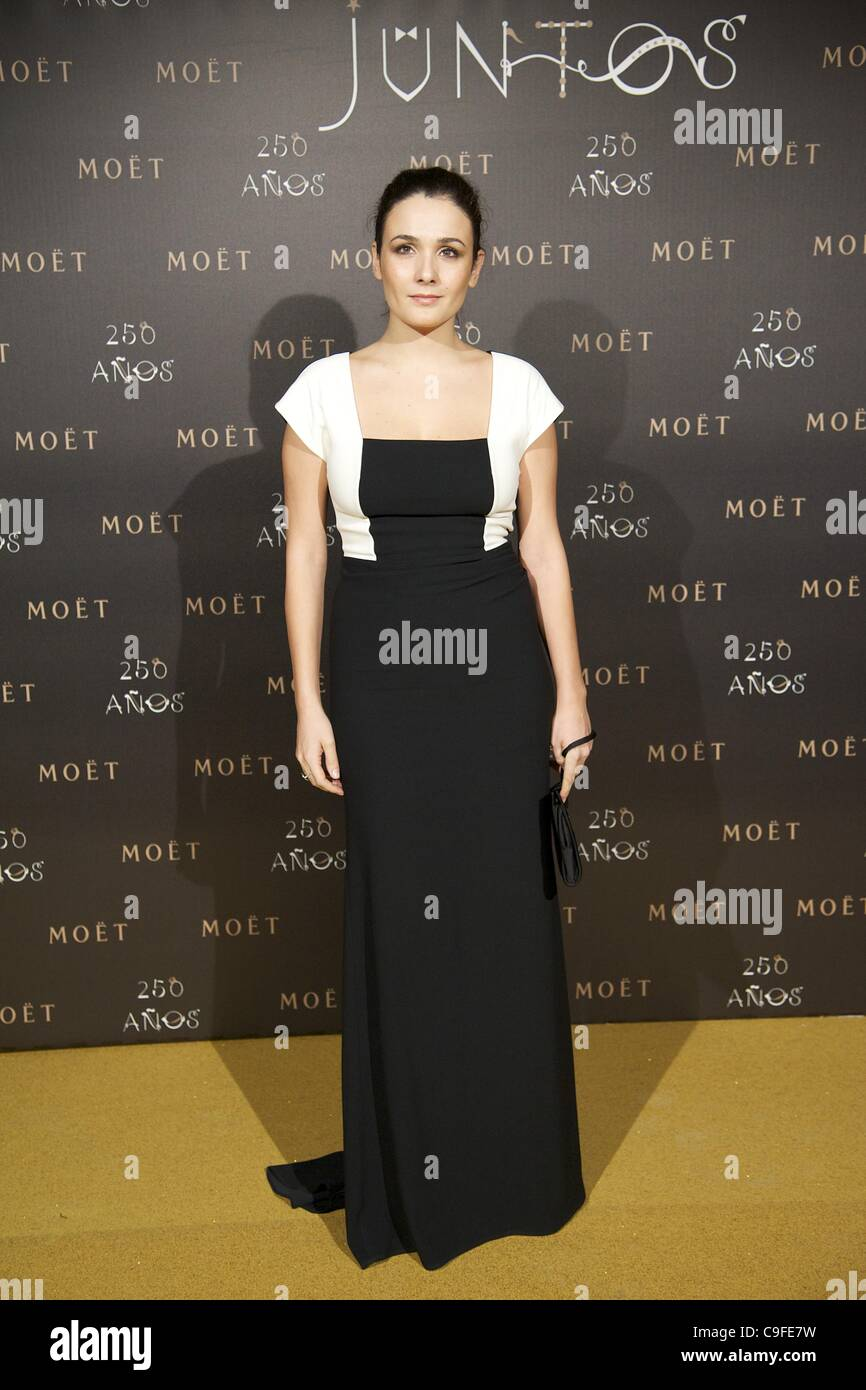 Dec. 14, 2011 - Madrid, Madrid, Spain - Adriana Dominguez attends the photocall for the 250th Anniversary of Moet - Stock Image