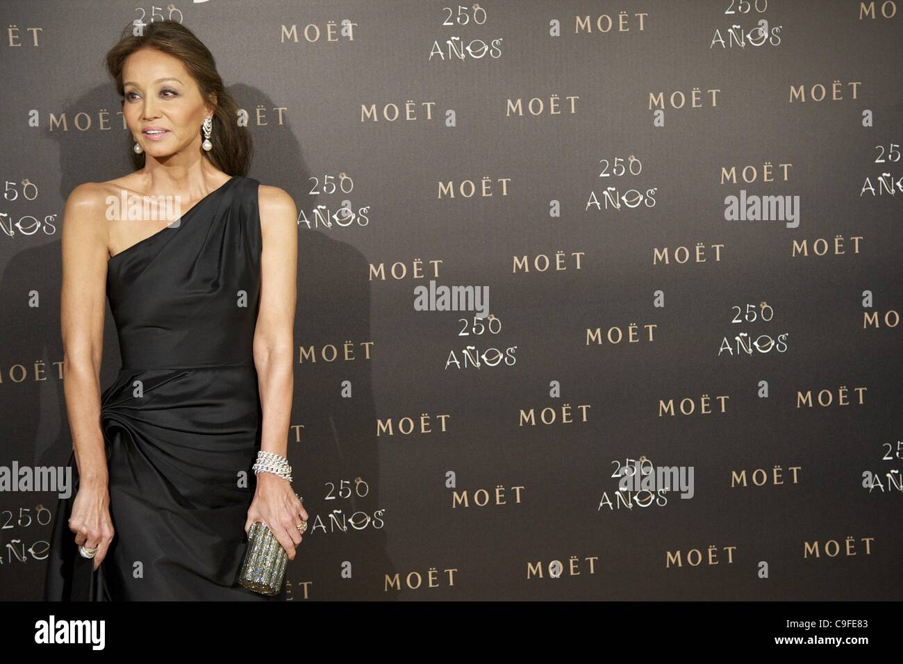 Dec. 14, 2011 - Madrid, Madrid, Spain - Isabel Preysler attends the photocall for the 250th Anniversary of Moet - Stock Image