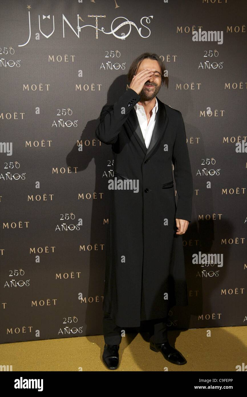 Dec. 14, 2011 - Madrid, Spain - JORDI MOLLA attends the photocall for the 250th Anniversary of Moet & Chandon - Stock Image