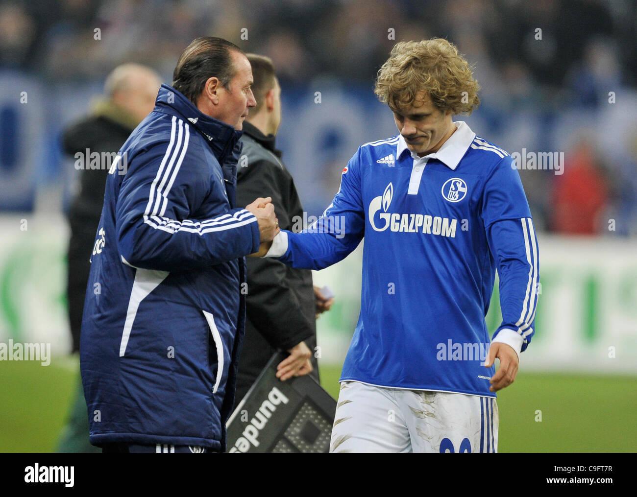 german Football Bundesliga, Season 2011/2012, 17th matchday, 17.12.2011, Schalke 04 (S04) vs. Werder Bremen 5:0 - Stock Image