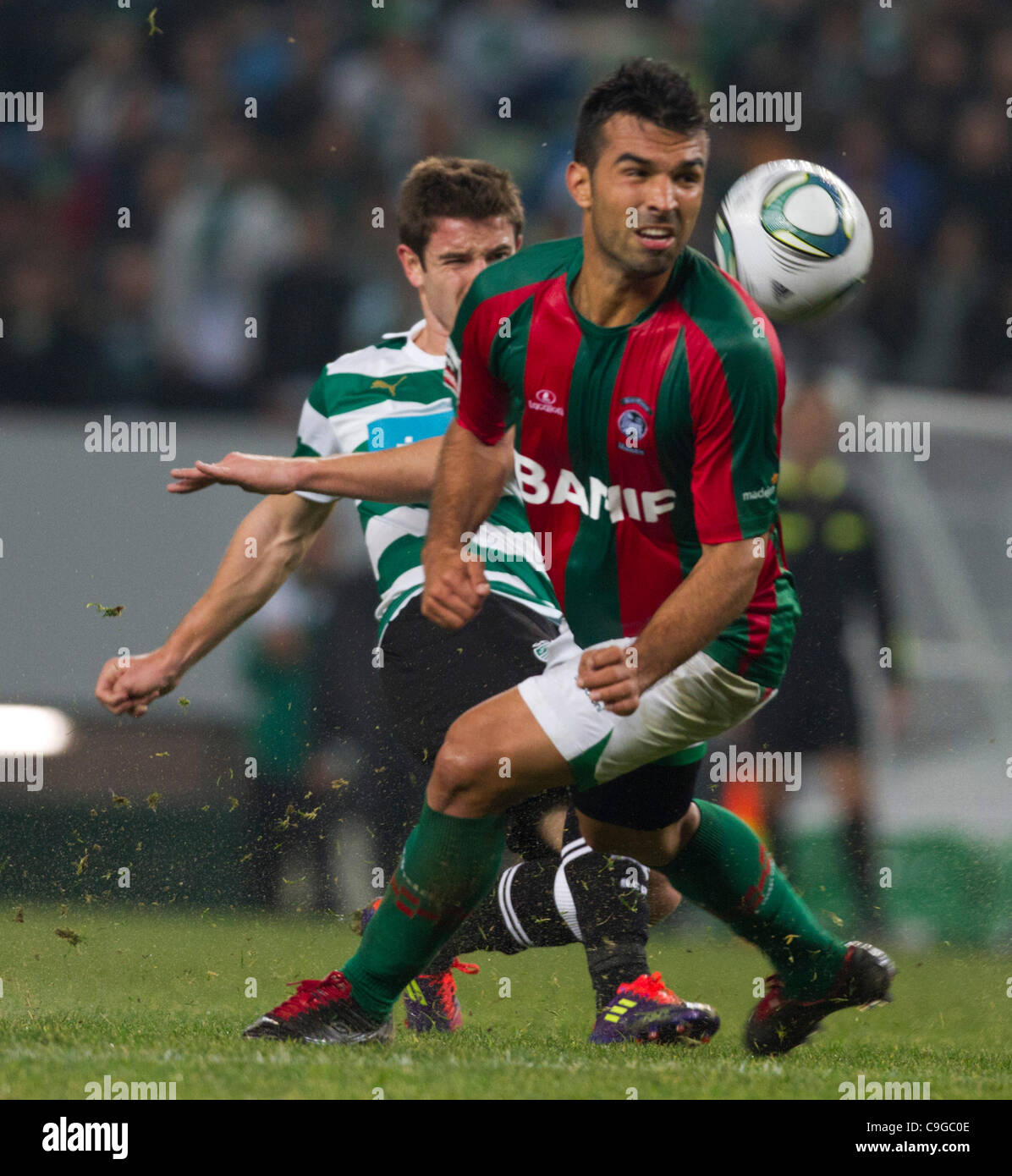 Portugal Cup Quarter final - Sporting CP (SCP) x SC Maritimo (SCM)  Roberto Sousa CS Maritimo Midfielder looking Stock Photo