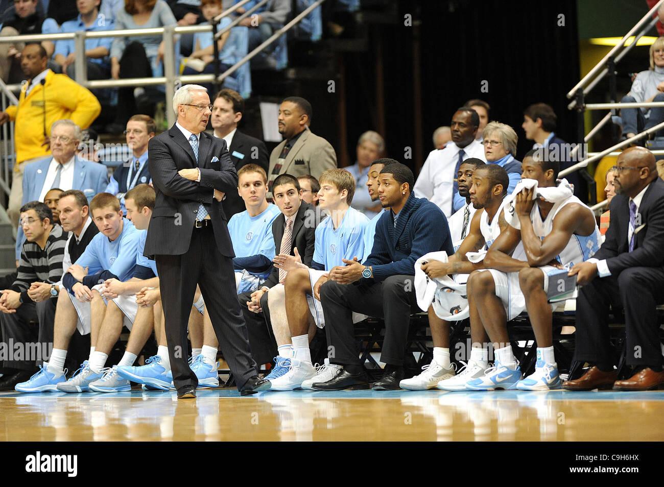 Jan. 01, 2012 - Chapel Hill, North Carolina; USA -  North Carolina Tarheels Head Coach ROY WILLIAMS as the University - Stock Image