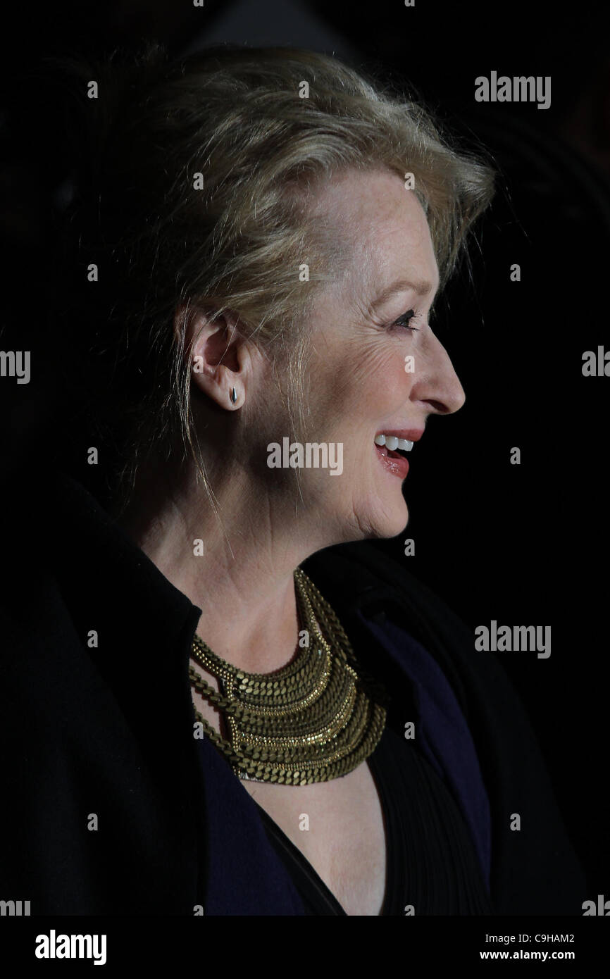 London, UK, 04/01/2012 Meryl Streep attends The Iron Lady - UK film premiere at the BFI Southbank, London. - Stock Image