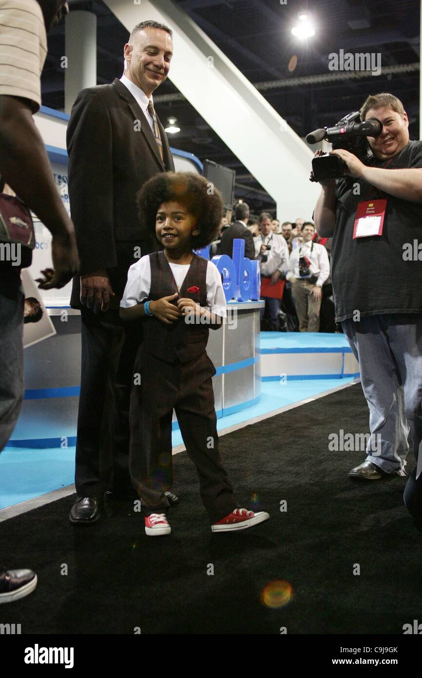 Miles 'Baby Boogaloo' Brown at a public appearance for Justin Bieber Unveils New Entertainment Robot at - Stock Image