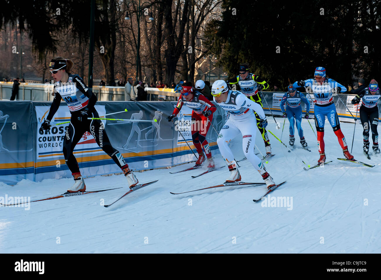 FIS Country Cross World Cup - Milan. 15th Jan, 2012. - Stock Image