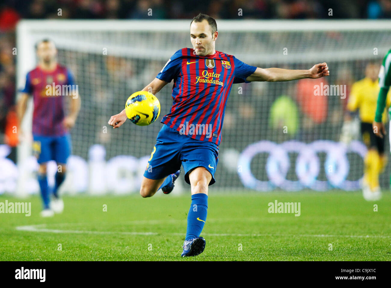 Andres Iniesta (Barcelona), JANUARY 15, 2012 - Football / Soccer : Spanish 'Liga Espanola' match between - Stock Image