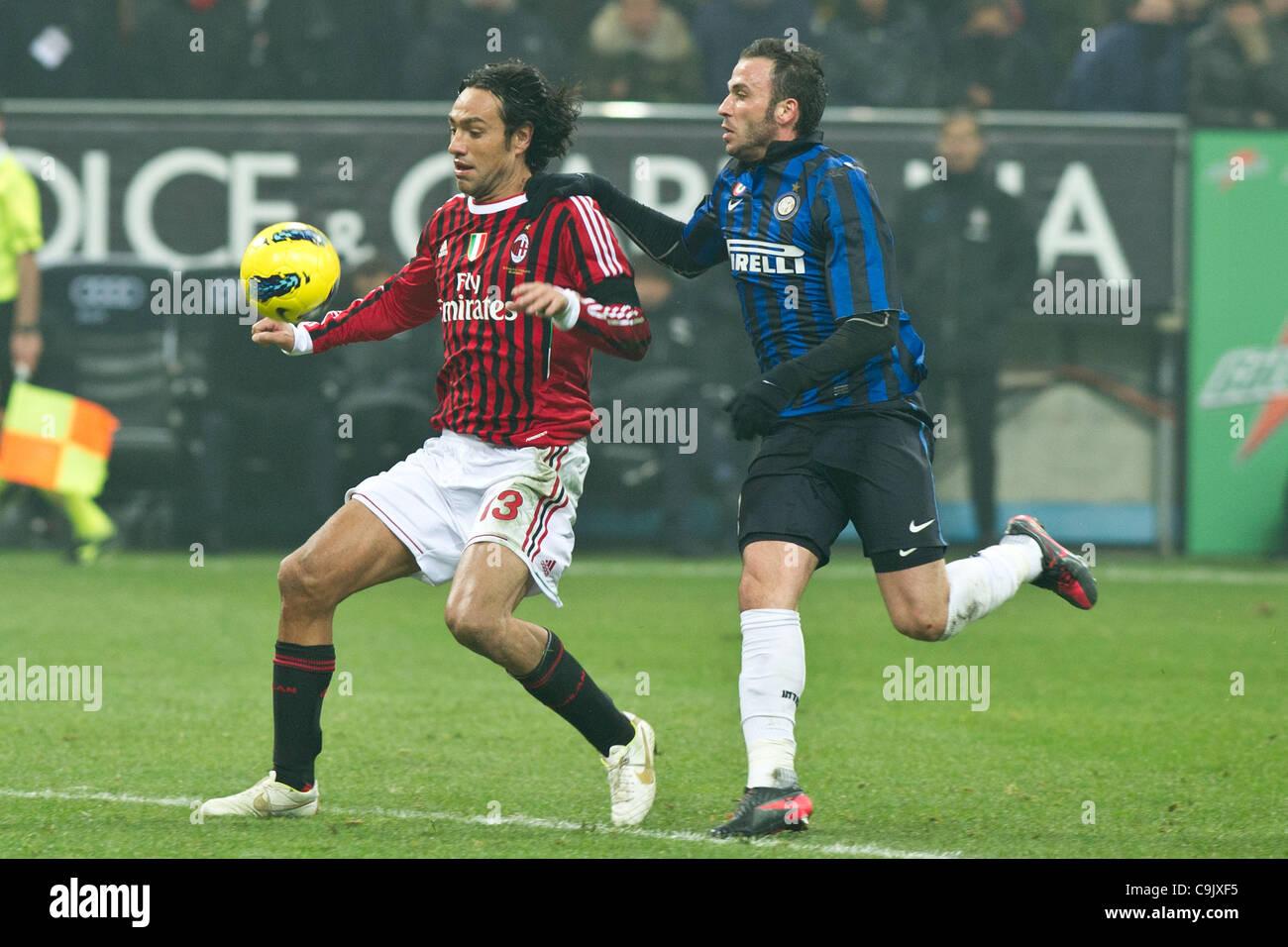 Alessandro Nesta (Milan), Giampaolo Pazzini (Inter), JANUARY 15, 2012