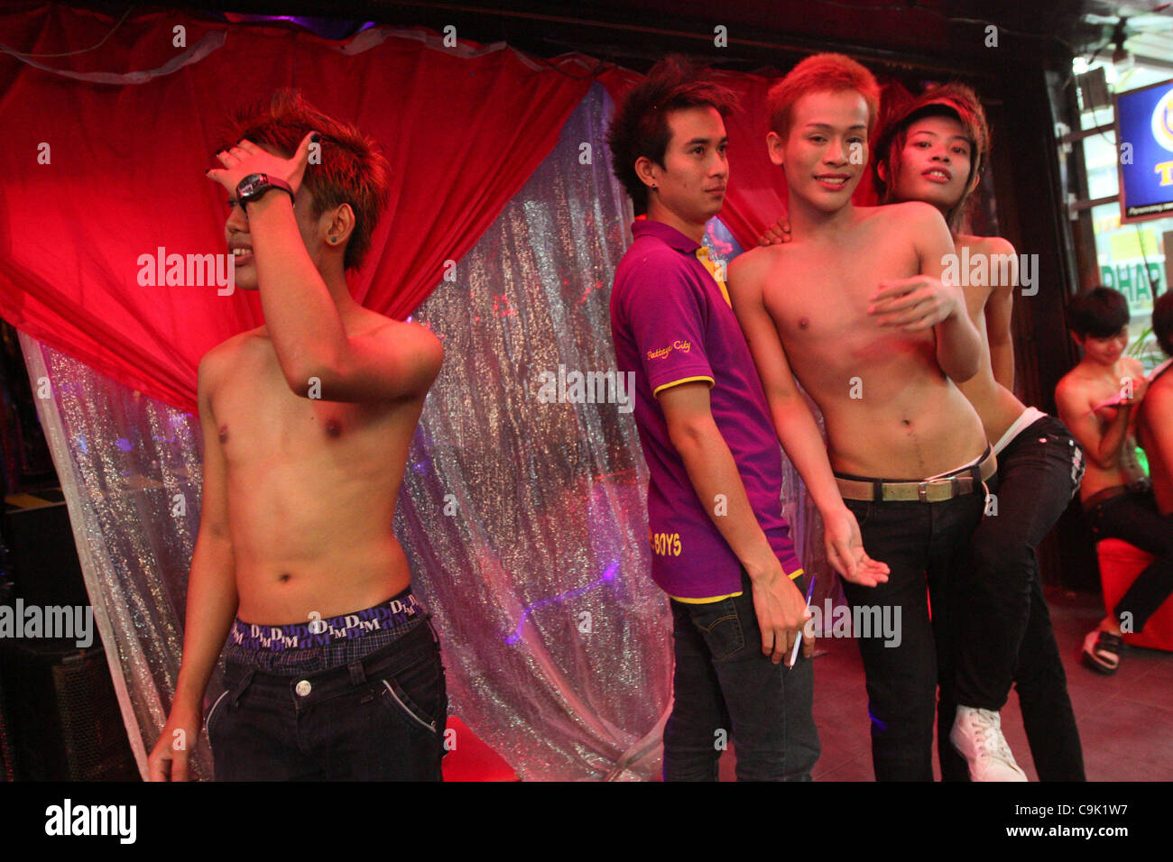 Thailands Sex Idustry Walking Street Of Pattaya Where Go Go Bars Gay Clubs Striptease Shows Are Offered For Tourists