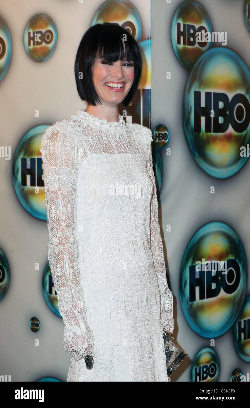 LENA HEADY attends the 2012 HBO Golden Globes After Party - Stock Image
