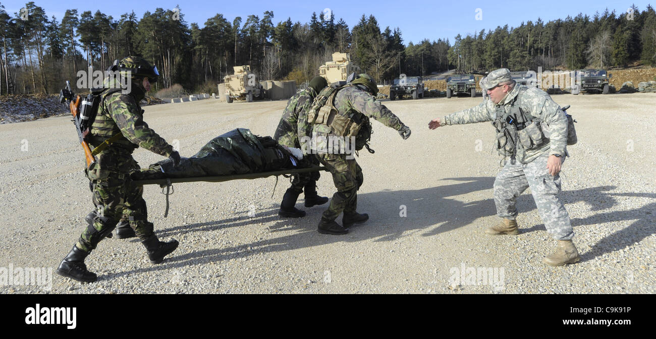 The U S  military training base in Hohenfels, Germany, has