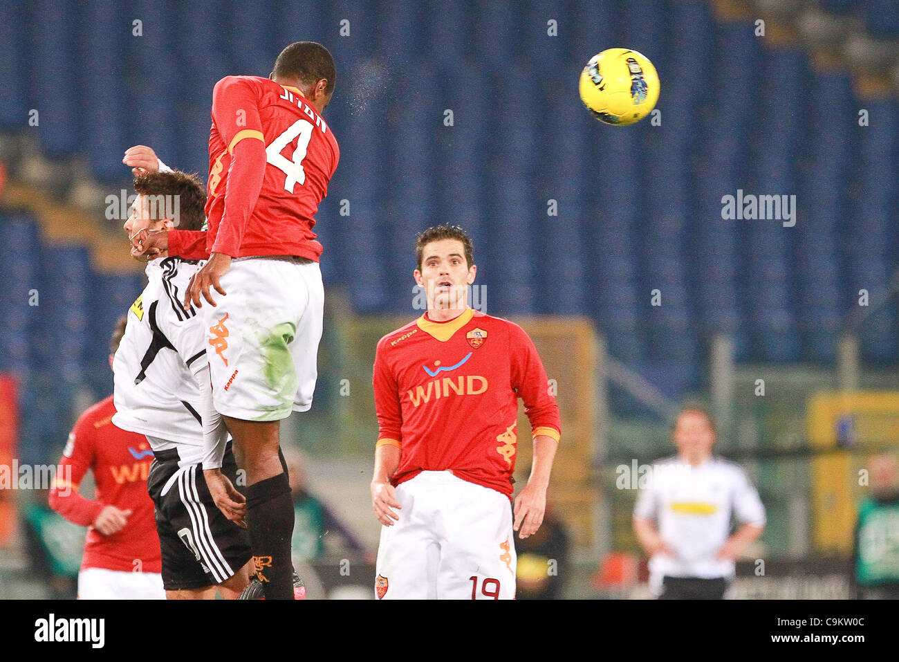 01.10.2011, Rome, Italy.   Juan In action during the Serie A match between AS Roma vs Cesena, played in the Stadio - Stock Image