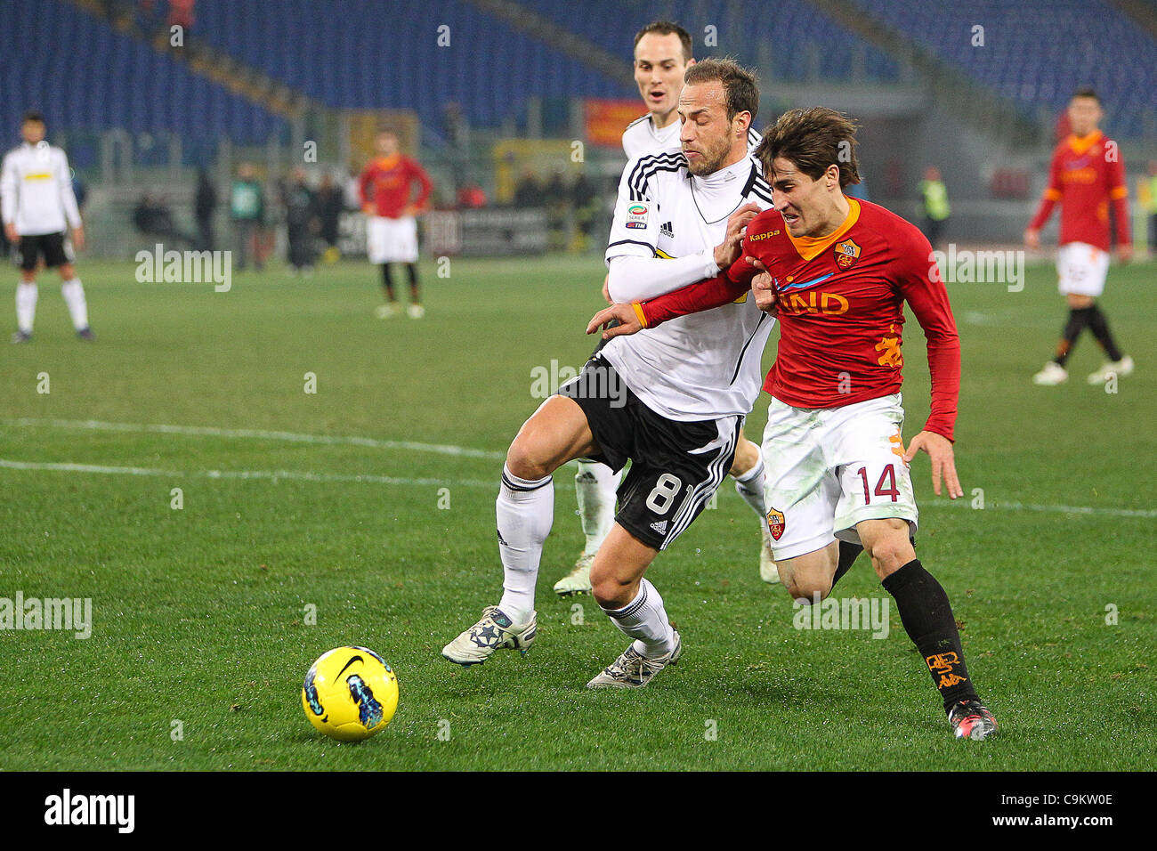 01.10.2011, Rome, Italy.   Bojan in action during the Serie A match between AS Roma vs Cesena, played in the Stadio - Stock Image