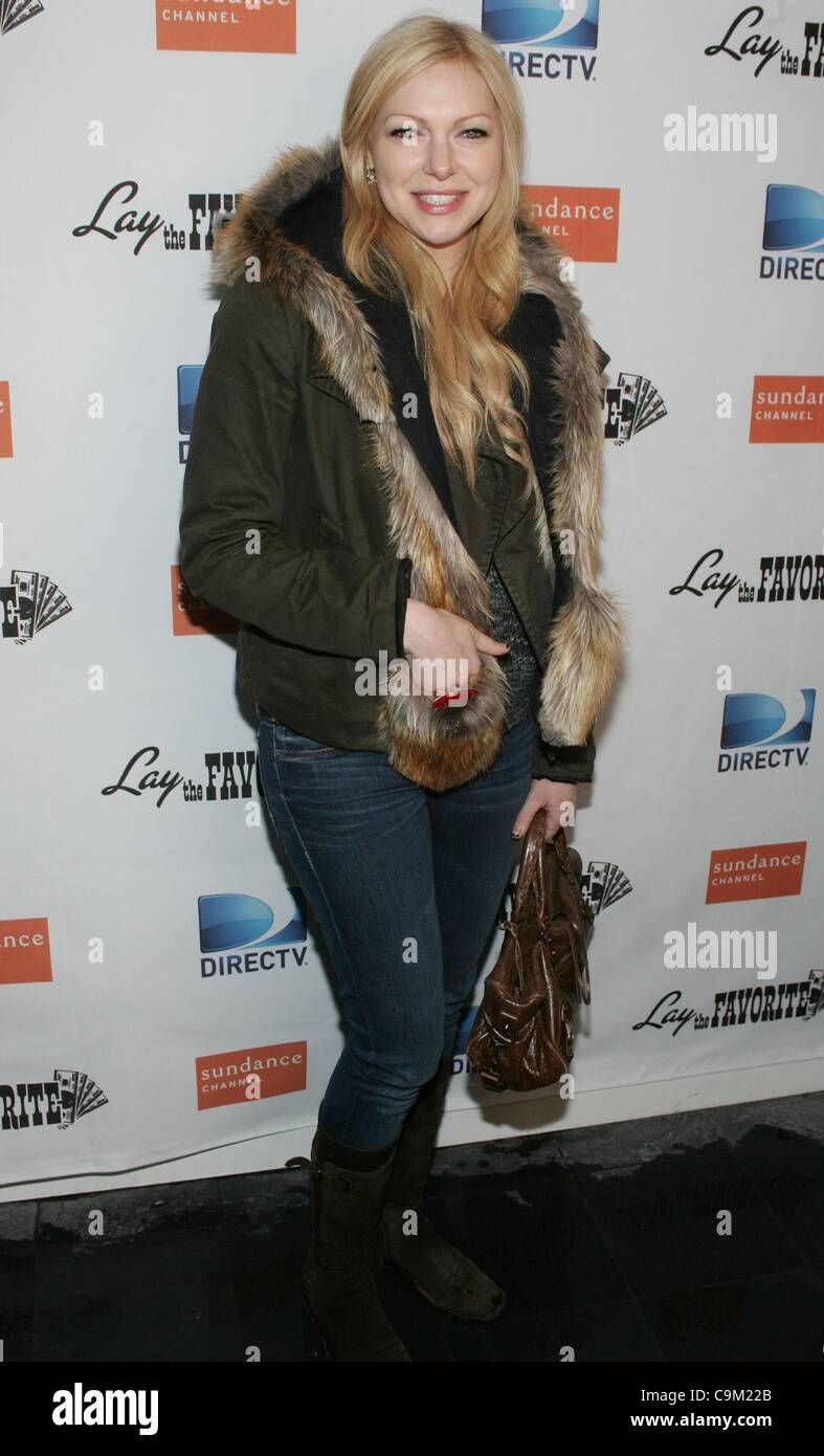 Laura Prepon at the after-party for LAY THE FAVORITE Post-Premiere Cast Party at the 2012 Sundance Film Festival, - Stock Image