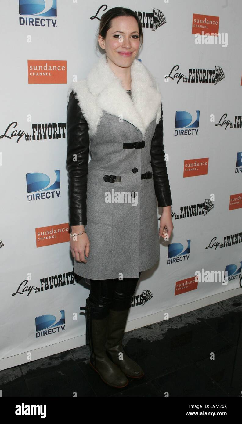 Rebecca Hall at the after-party for LAY THE FAVORITE Post-Premiere Cast Party at the 2012 Sundance Film Festival, - Stock Image