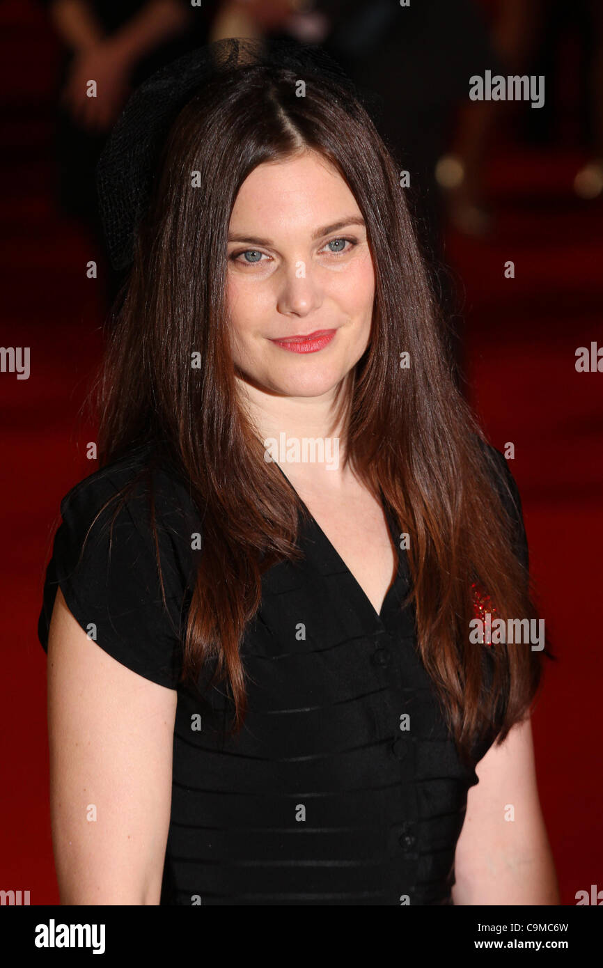 London, UK, 24/01/2012 Liz White attends UK premiere of Hammer Horror adaptation of Susan Hill's spooky novel. - Stock Image