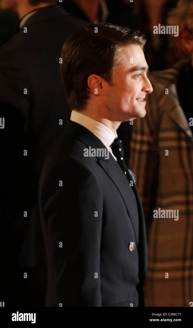 London, UK, 24/01/2012 Daniel Radcliffe attends UK premiere of Hammer Horror adaptation of Susan Hill's spooky - Stock Image
