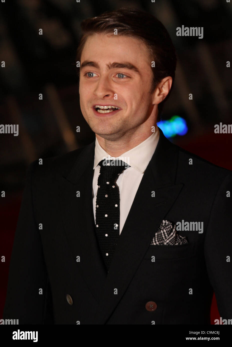 London, UK, 24/01/2012 Daniel Radcliffe attends UK premiere of The Woman in Black Hammer Horror adaptation of Susan - Stock Image