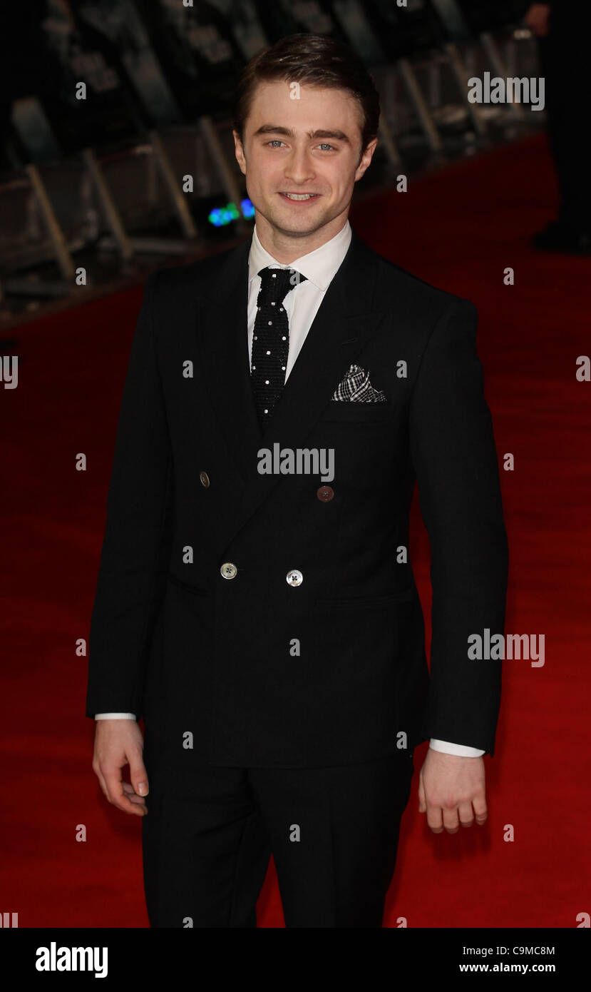 London, UK, 24/01/2012 Daniel Radcliffe attends UK premiere of Hammer Horror adaptation The Woman in Black of Susan - Stock Image