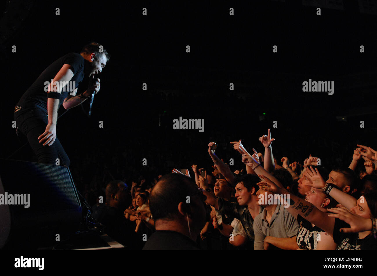 RISE AGAINST  brings the punk/pop to the CONSTNAT CENTER at OLD DOMINION UNIVERSITY  in NORFOLK, VIRGINIA on 24 Stock Photo