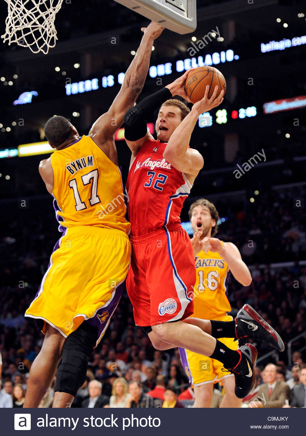 8cb5d5d8357 The Clippers Blake Griffin (32) goes up for the dunk as the Lakers'