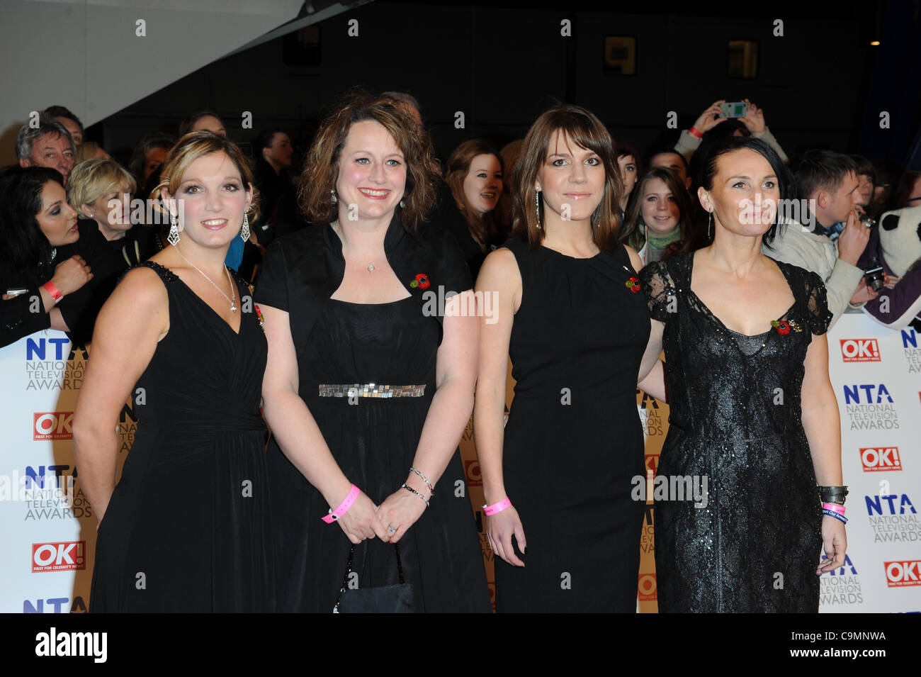 MEMBERS OF MILITARY WIVES 2012 NATIONAL TELEVISION AWARDS O2 ARENA LONDON ENGLAND 25 January 2012 - Stock Image