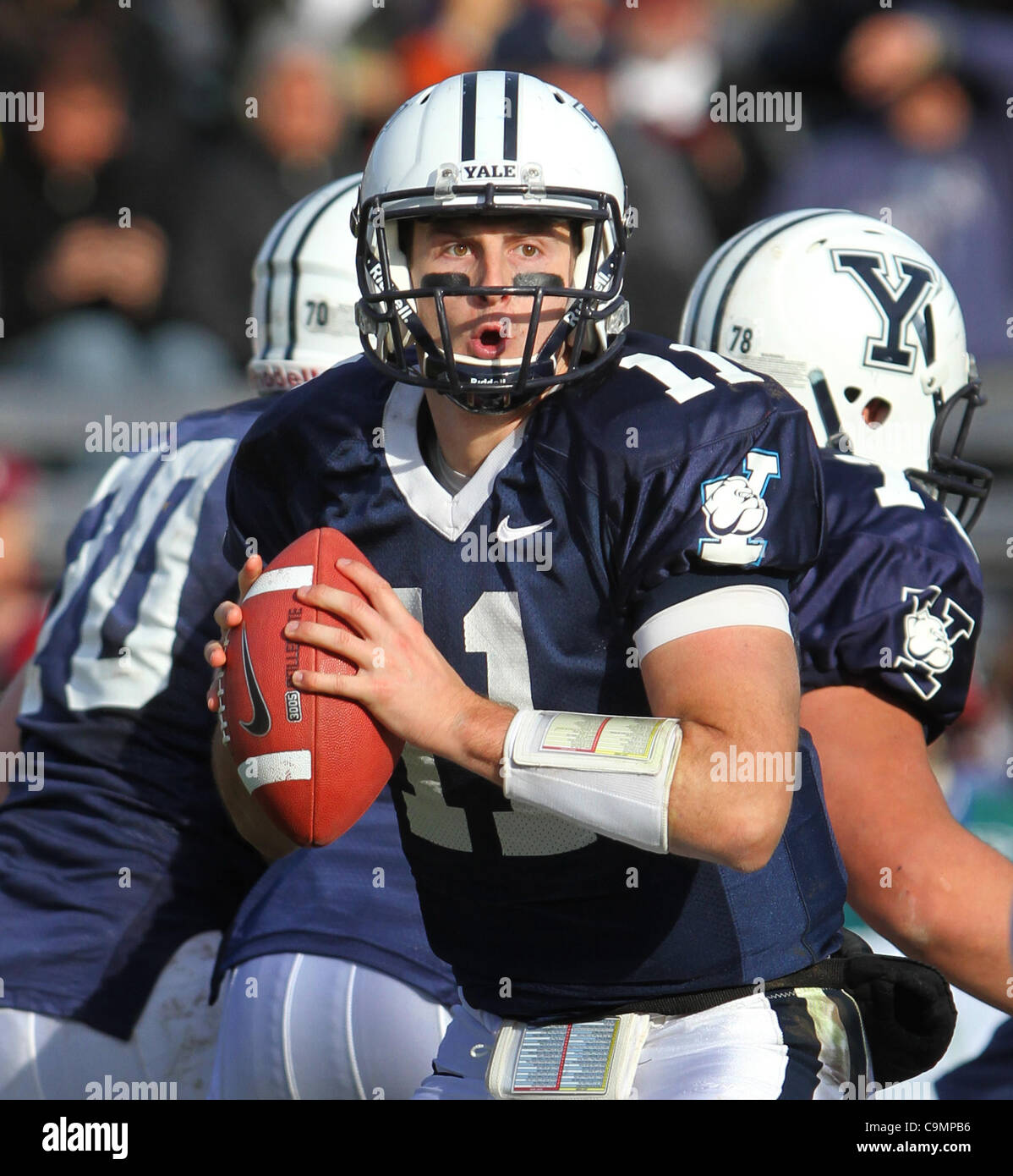 Nov. 19, 2011 - New Haven, CT, U.S. - Yale quarterback #11 PATRICK WITT during the 128th playing of  ''The - Stock Image