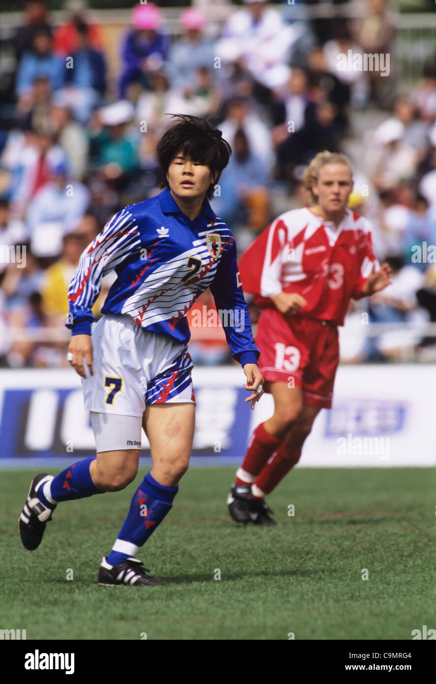 Homare Sawa (JPN), MAY 5, 1995 - Football / Soccer : ICE BOX CUP 1st Women's Football International Friendly - Stock Image