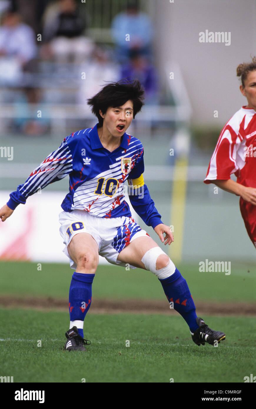 Akemi Noda (JPN), MAY 5, 1995 - Football / Soccer : ICE BOX CUP 1st Women's Football International Friendly - Stock Image