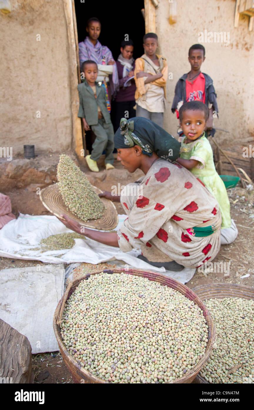 Jan. 19, 2012 - Farta (Woreda, South Gondar (Zone, Ethiopia - January 19, 2012, Checheho, Ethiopia - A Village Savings - Stock Image