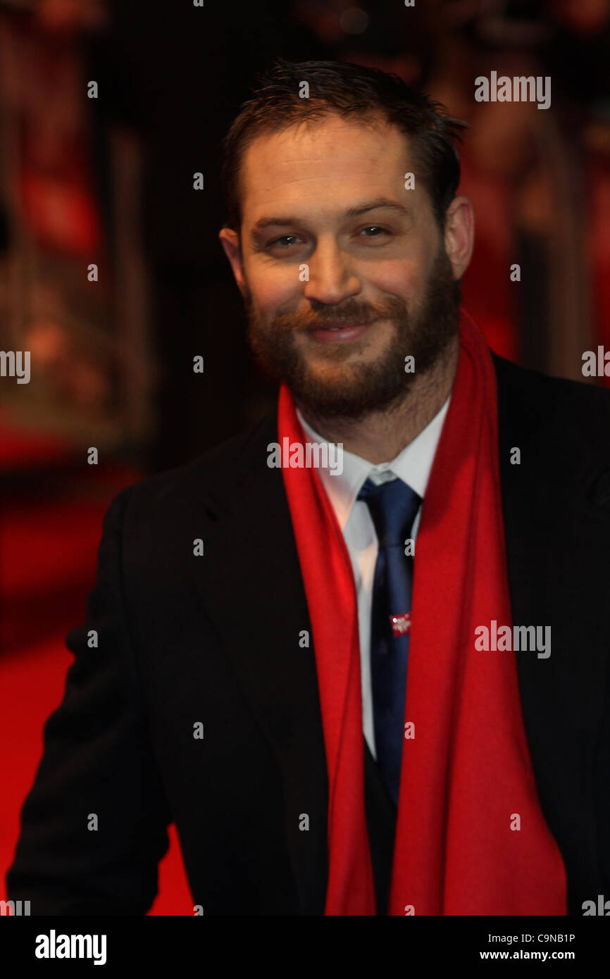 London, UK, 30/01/2012 Tom Hardy arrives for the This Means War - UK Premiere in London (Credit Image: Press2000/Alamy - Stock Image