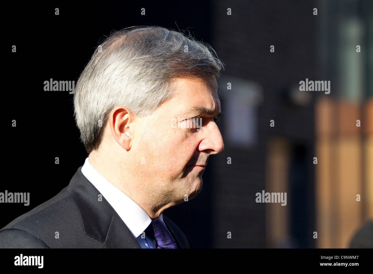 Chris Huhne.Clerkenwell, London, 03.02.2012 Chris Huhne resigns over criminal charge in speeding case.The energy - Stock Image