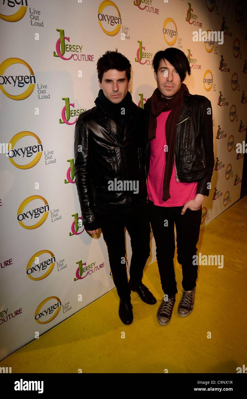 Geordon Nicol; Greg Krelenstei at arrivals for Oxygen's Jersey Couture Pop-Up Beauty Bar, 684 Broadway, New - Stock Image