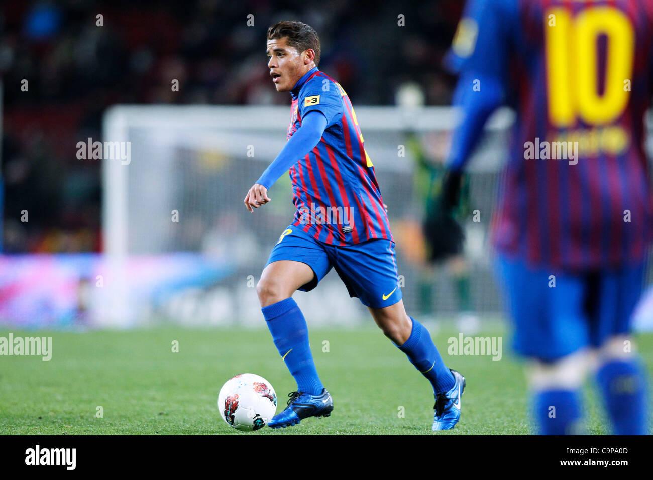 Jonathan Dos Santos (Barcelona), FEBRUARY 4, 2012 - Football / Soccer : Spanish 'Liga Espanola' match between - Stock Image