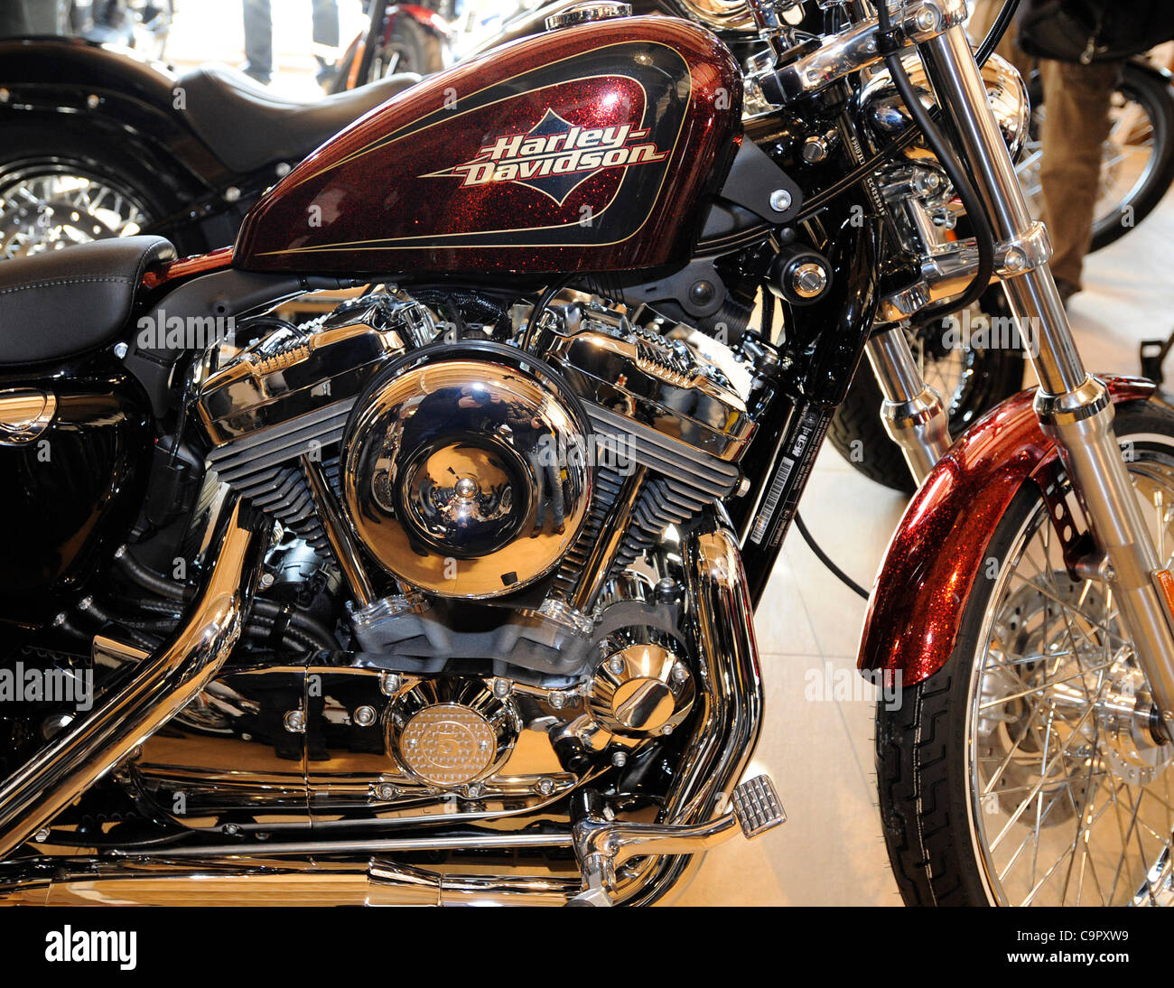 Harley Davidson Company Introduced Two New Models Xl 1200v Sportster Stock Photo Alamy