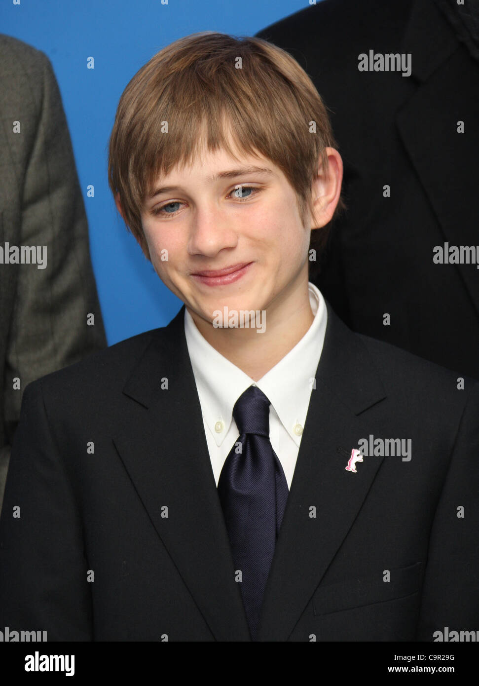THOMAS HORN EXTREMELY LOUD & INCREDIBLY CLOSE PHOTOCALL BERLIN FILM FESTIVAL 2012 THE GRAND HYATT POTSDAMER - Stock Image