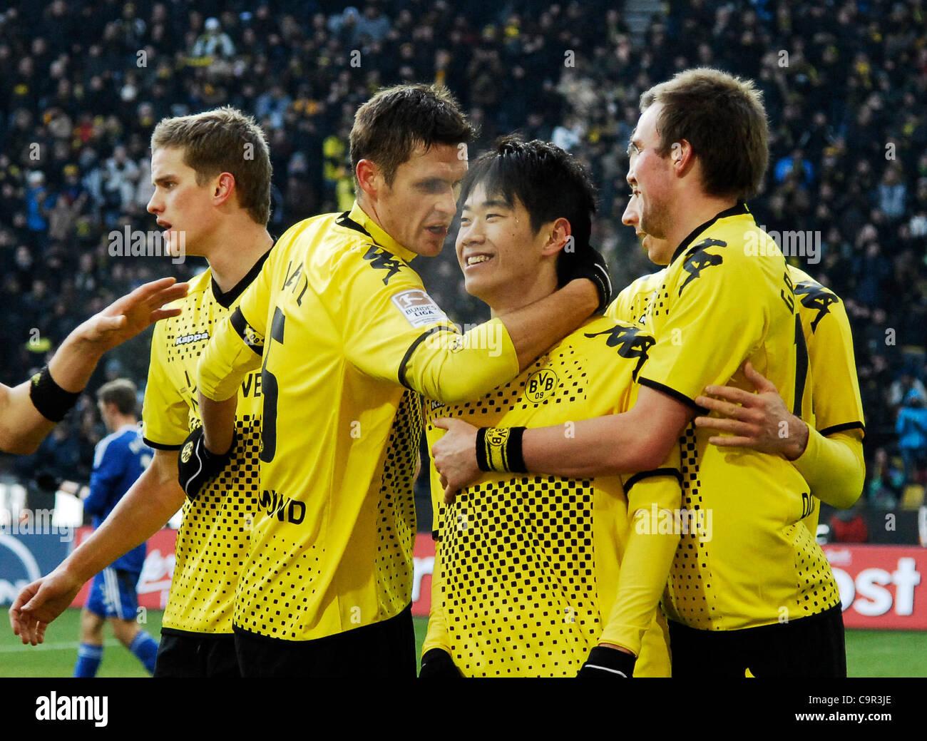 1.Fussball-Bundesliga, Saison 2011/2012, 21. Spieltag Borussia Bortmund gegen  Bayer 04 Leverkusen 1:0 ---Shinji - Stock Image
