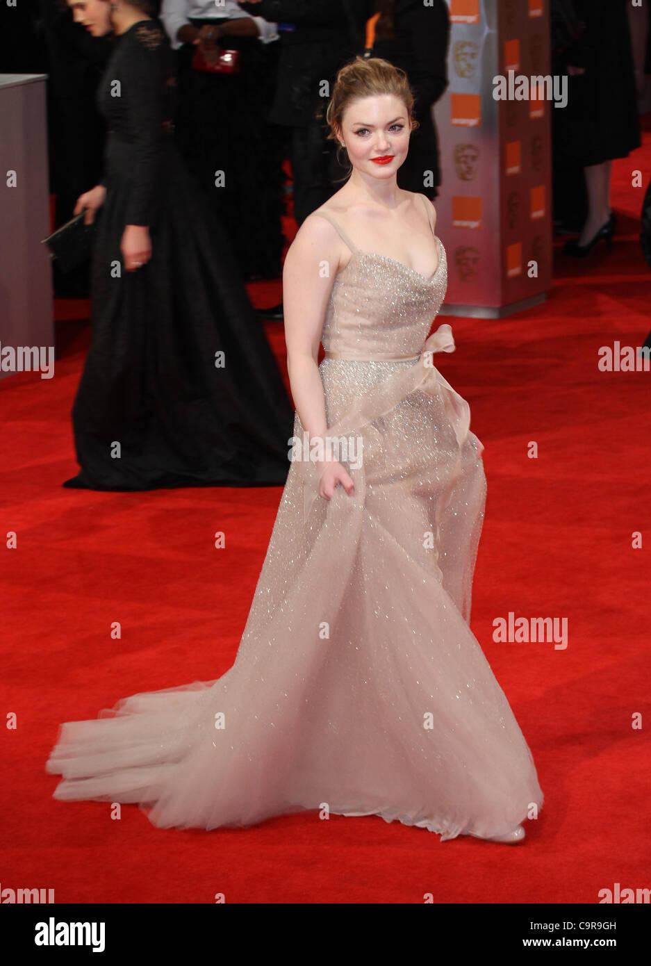 London, UK, 12/02/2012 Holliday Grainger arrives for the Orange British Academy Film Awards (BAFTAS) Royal Opera - Stock Image