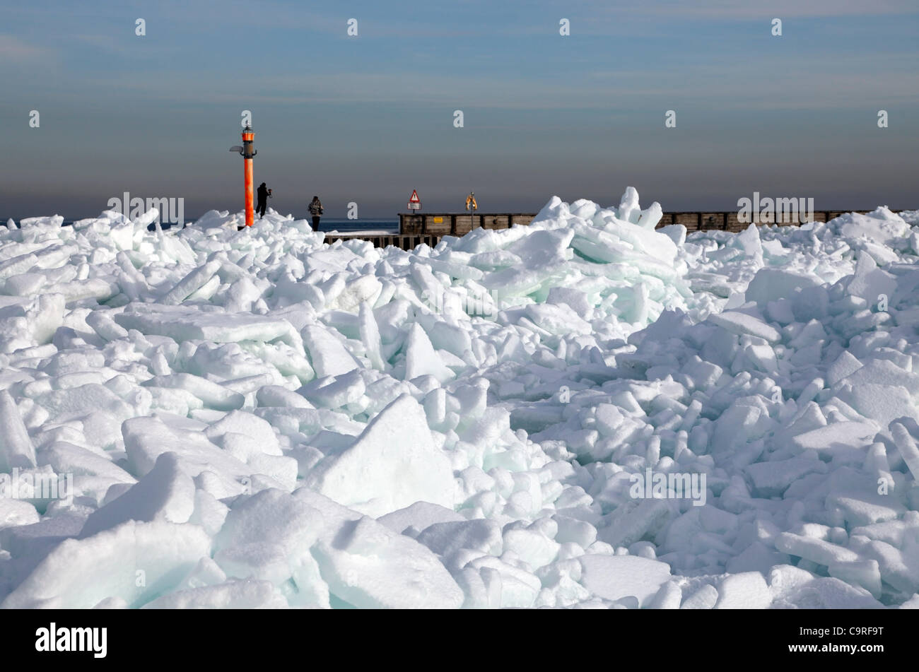 February, Monday 13, 2012 - Rungsted Harbour 20 km north of Copenhagen, Denmark. Due to an extremely cold spell - Stock Image