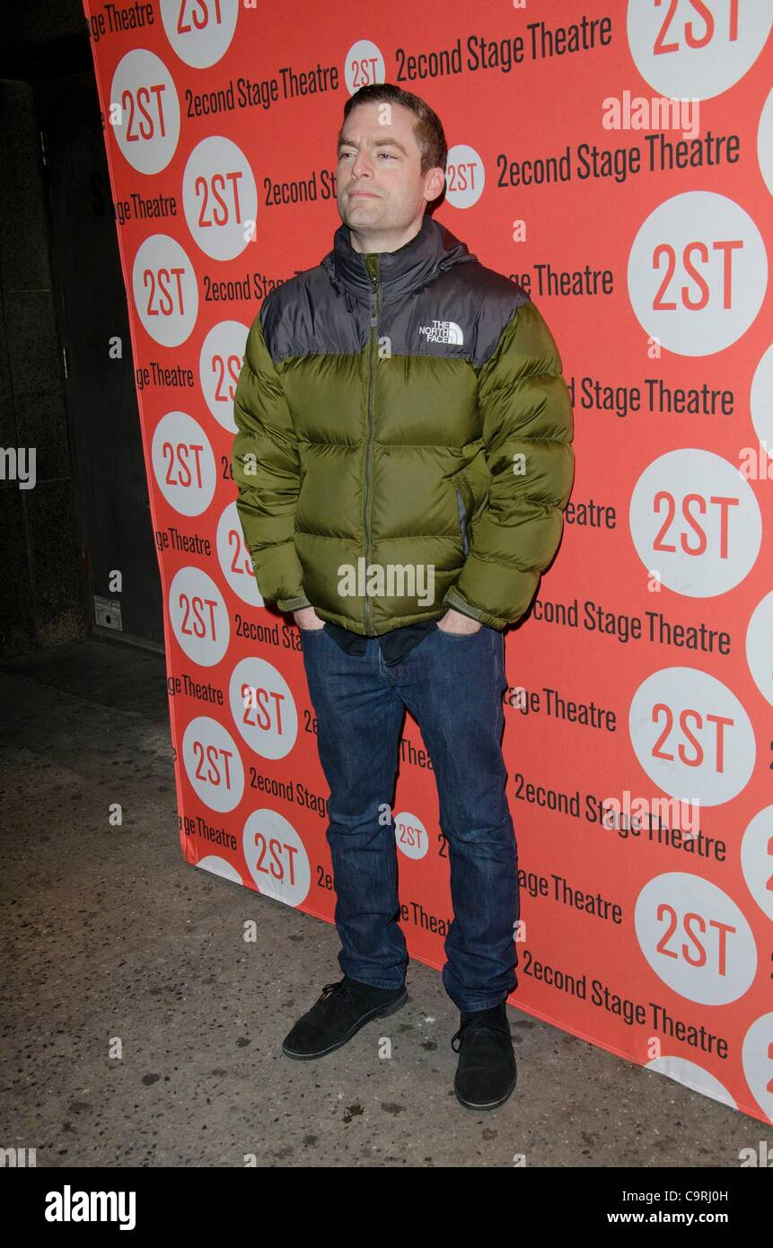 Justin Kirk at arrivals for HOW I LEARNED TO DRIVE Opening Night on Broadway, Second Stage Theatre, New York, NY - Stock Image