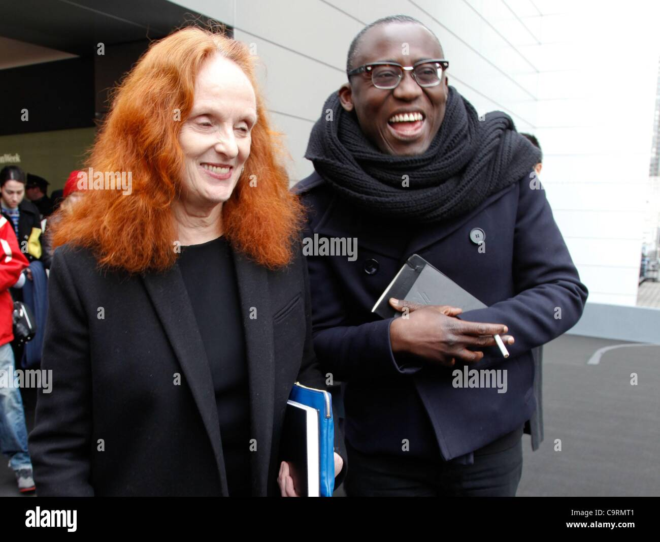 Grace Coddington in attendance for VERA WANG Fall/Winter 2012 Fashion Show at Mercedes-Benz Fashion Week, The Stage - Stock Image