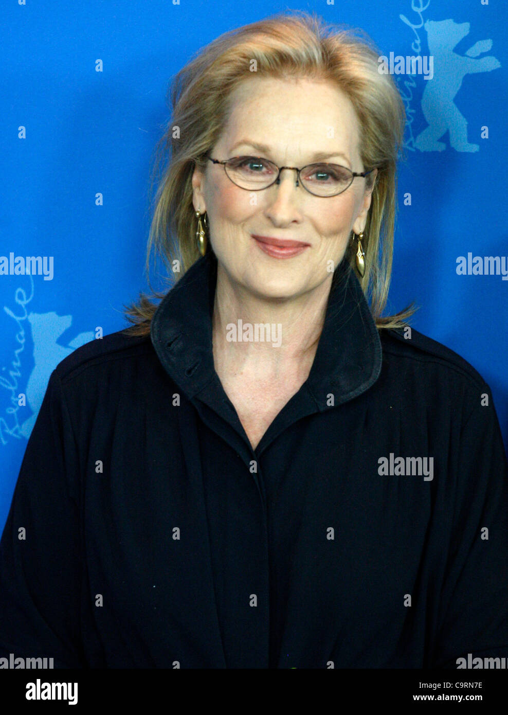 14 February 2012 Berlin Germany. Actress MERYL STREEP poses for photographers at the photocall for the film 'The - Stock Image