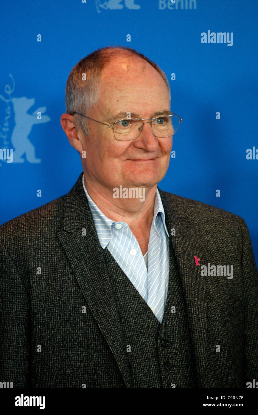 14 February 2012 Berlin Germany.  Actor JIM BROADBENT poses for photographers at the photocall for the film 'The - Stock Image