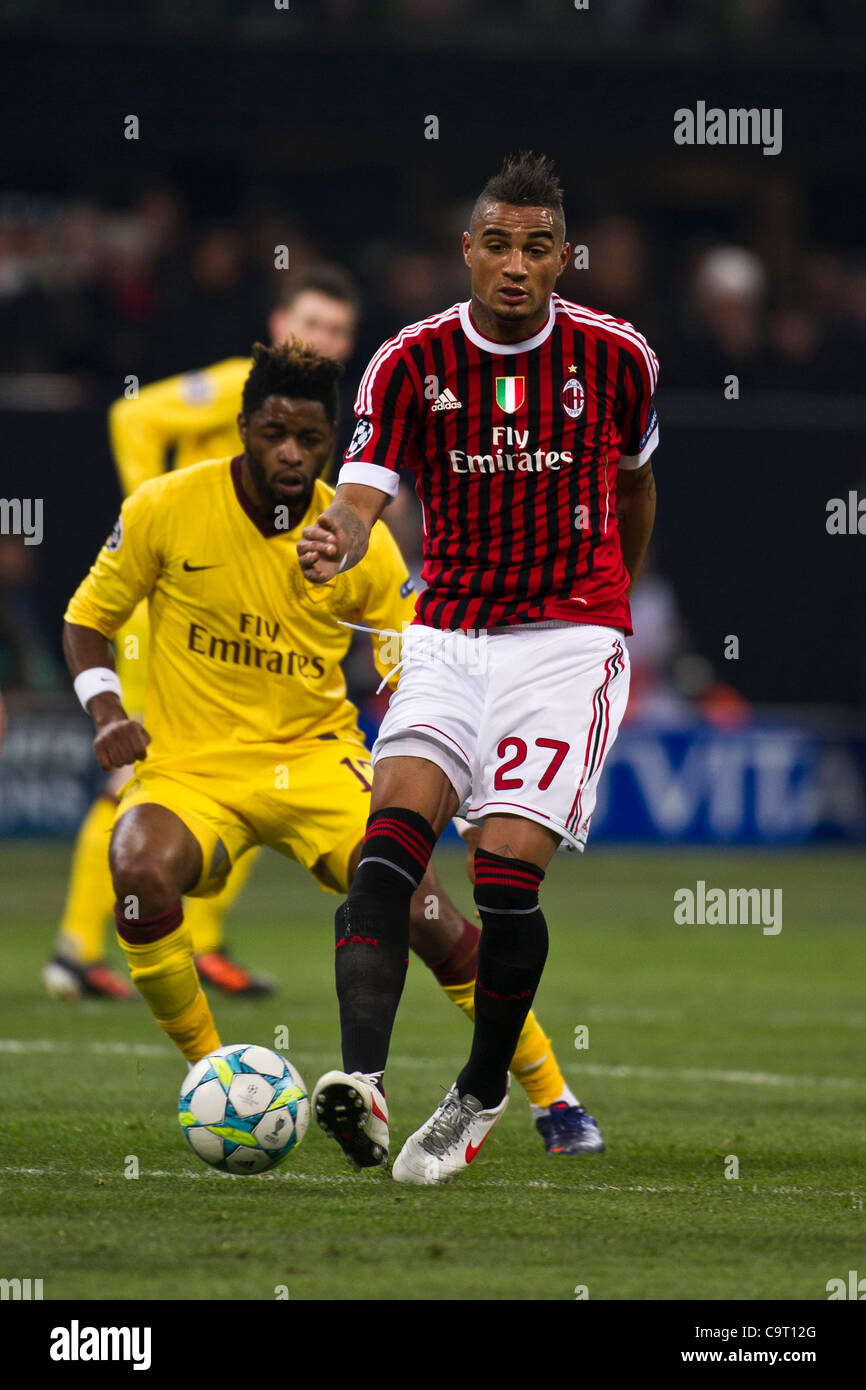 Alexandre Song (Arsenal), Kevin Prince Boateng (Milan), FEBRUARY 15