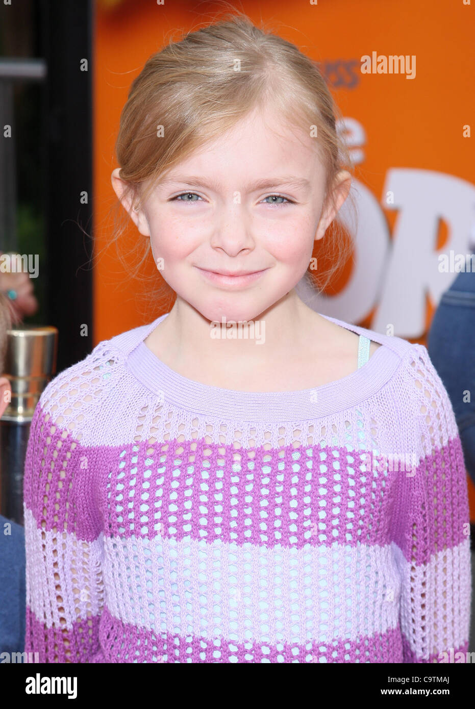 ELSIE FISHER DR. SEUSS' THE LORAX. WORLD PREMIERE UNIVERSAL CITY LOS ANGELES CALIFORNIA USA 19 February 2012 - Stock Image