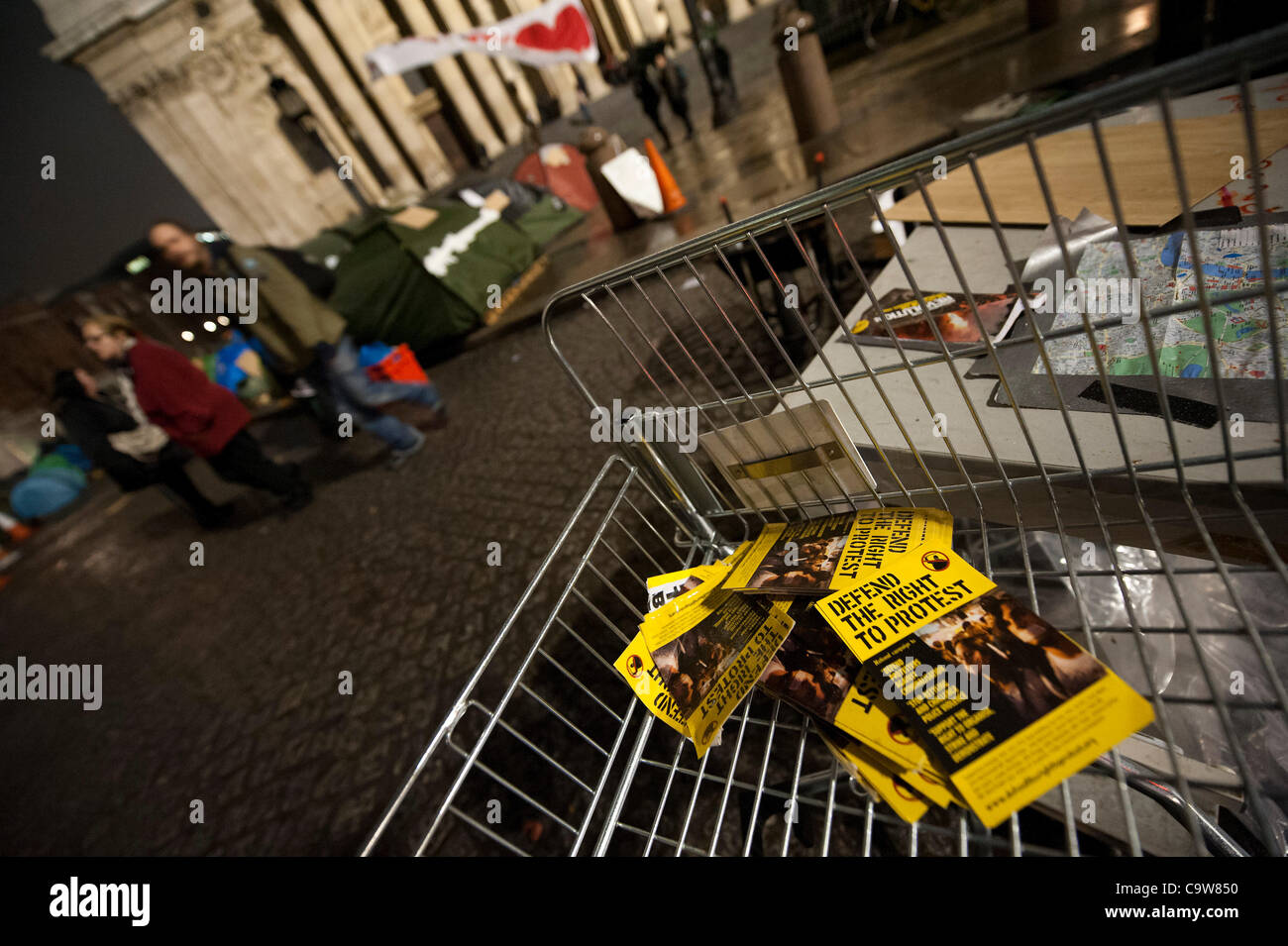 Occupy London fail in their appeal in the High Court. This means that their eviction could take palce at any time. - Stock Image
