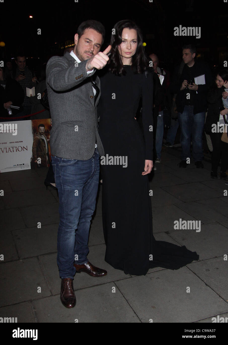 London, UK, 23/02/2012 Danny Dyer & Anna Walton arrive for the 'Deviation' world premiere at the Odeon - Stock Image