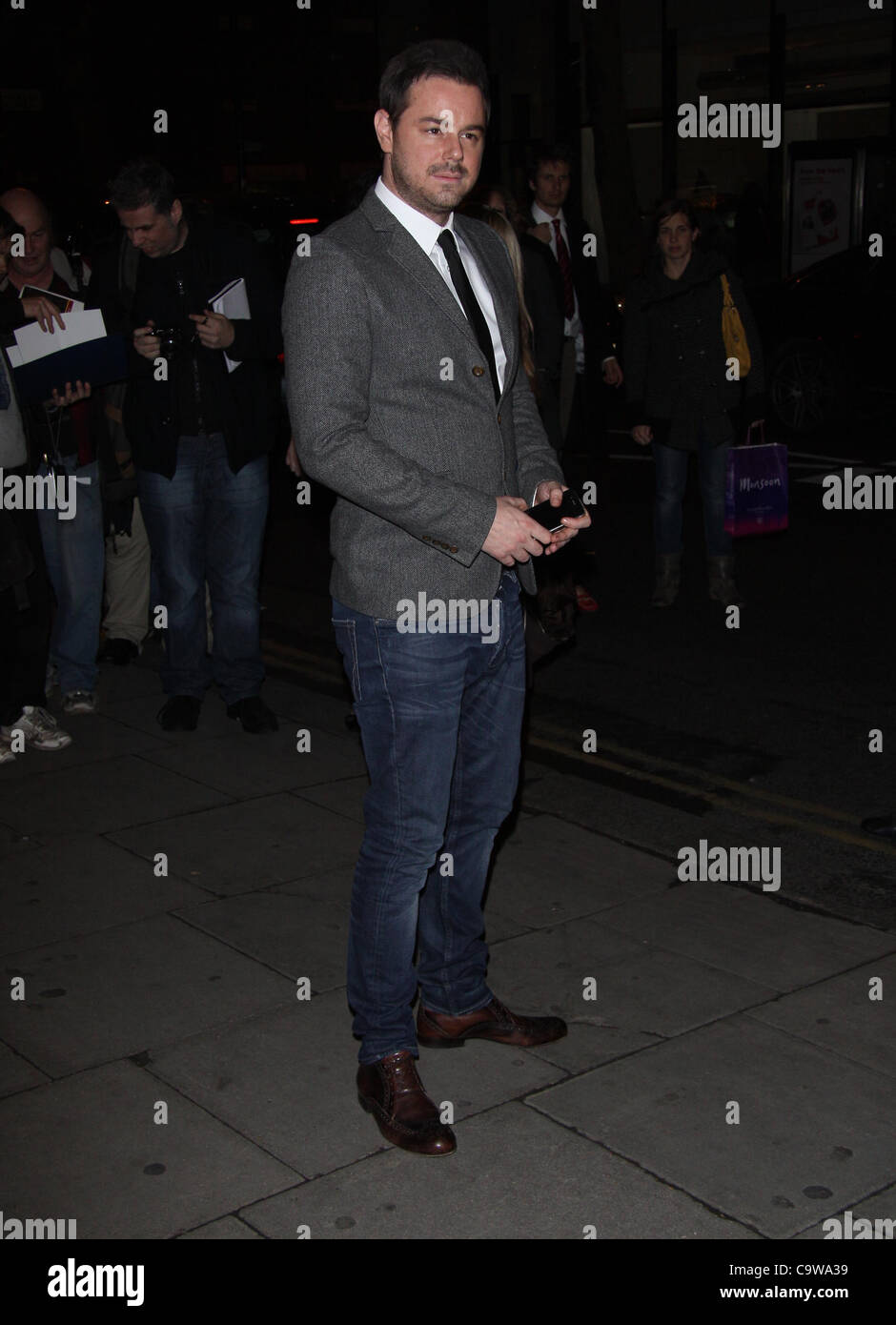 London, UK, 23/02/2012 Danny Dyer arrives for the 'Deviation' world premiere at the Odeon Covent Garden - Stock Image