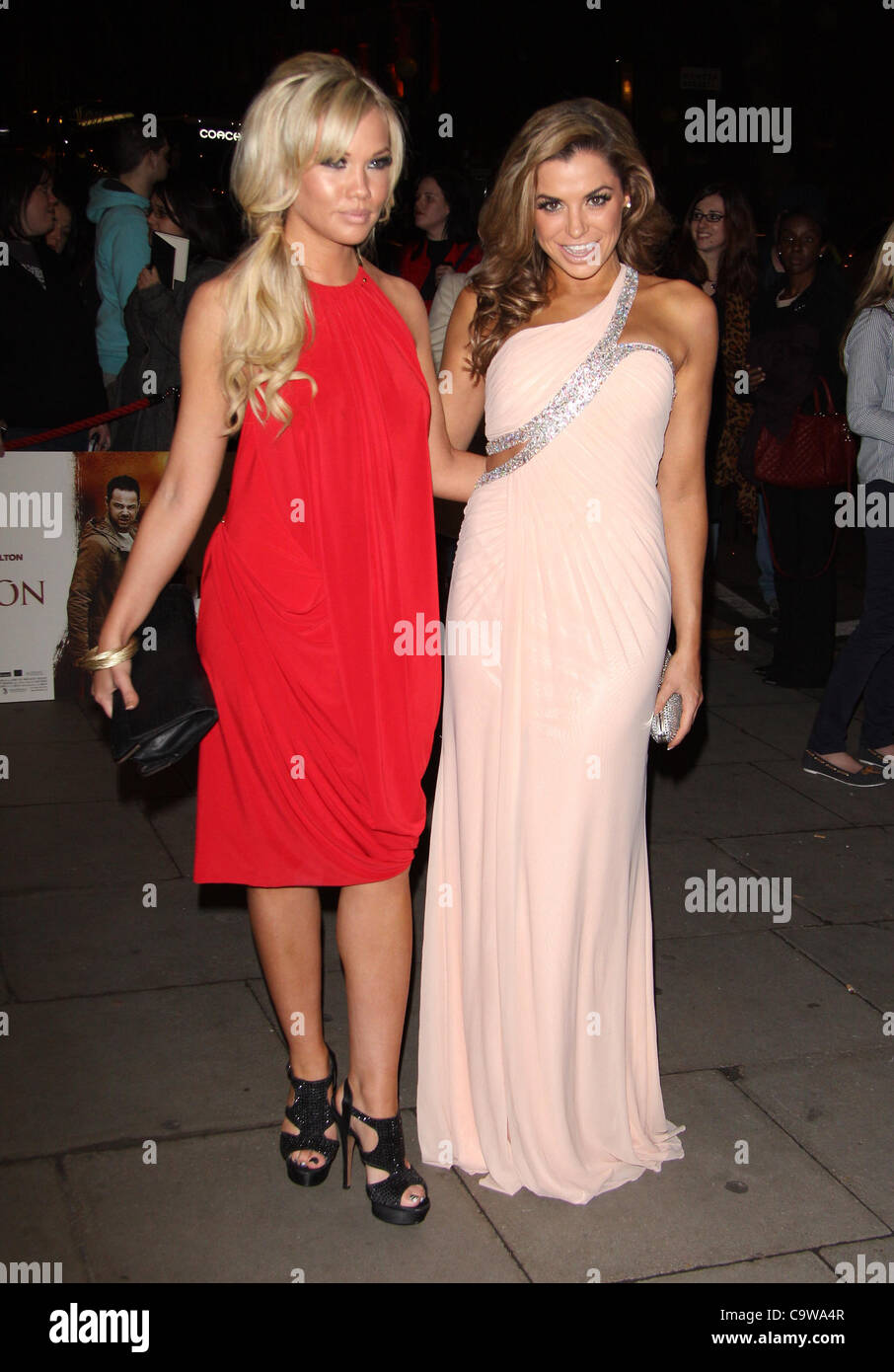 London, UK, 23/02/2012 Louise Glover ( R ) arrives for the 'Deviation' world premiere at the Odeon Covent - Stock Image