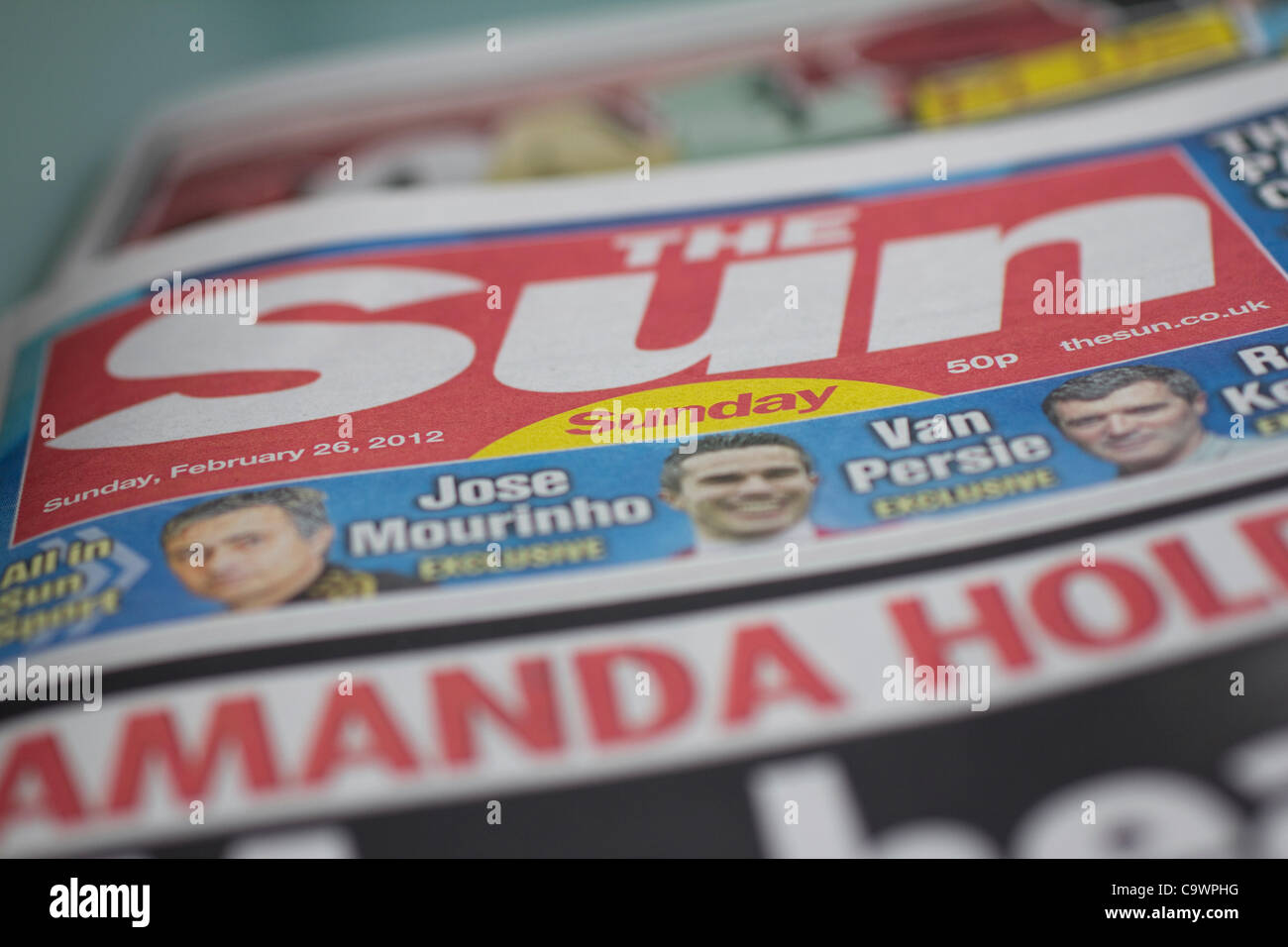 sunday sun, the sun on sunday new newspaper - Stock Image